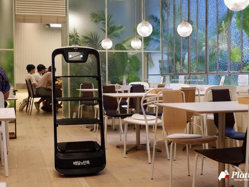 """韩国中央日报报道:我叫""""欢乐送"""",是你的机器人服务员"""