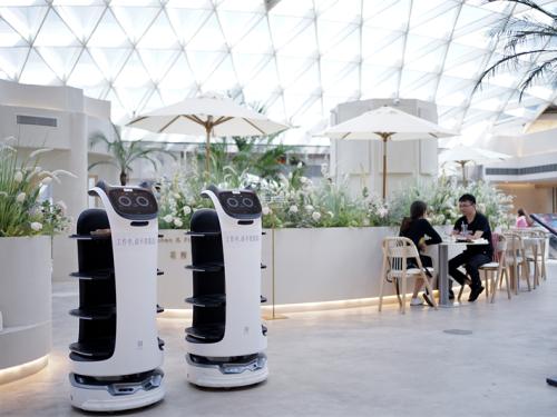 """""""可以吃的鲜花岛屿""""?普渡机器人上岗超美西餐厅——花厨Island"""
