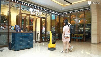 """普渡迎宾机器人""""葫芦""""助力海鲜自助餐厅拓客引流"""