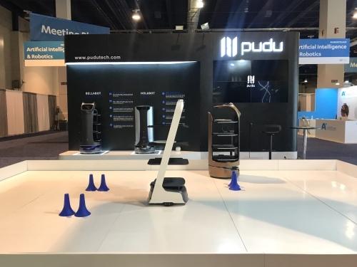 PuduTech présente 3 robots emblématiques de la marque lors du CES 2020, instaurant ainsi une nouvelle ère des robots de livraison