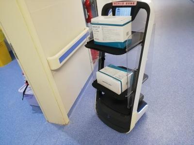 武汉大学人民医院,无接触配送服务由普渡科技提供!