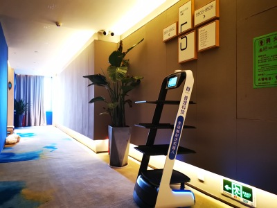 普渡机器人入驻深圳兰兹酒店(海上世店)密接隔离点