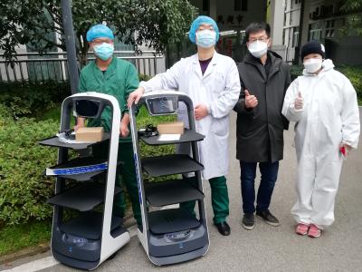 抗疫第一线,普渡机器人入驻武汉市金银潭医院